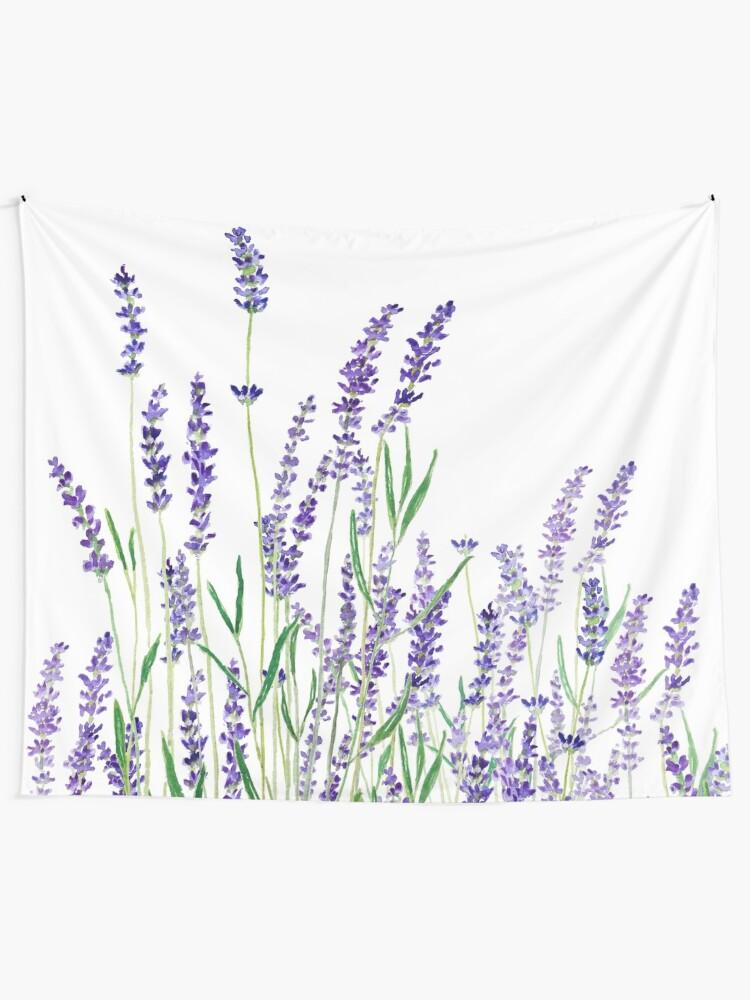 Alternate view of purple lavender  Tapestry