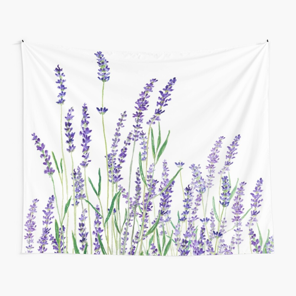 purple lavender  Wall Tapestry