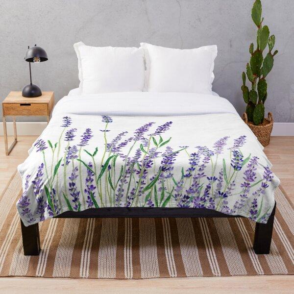 purple lavender  Throw Blanket