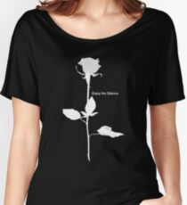 Enjoy the Silence style Rose white Women's Relaxed Fit T-Shirt