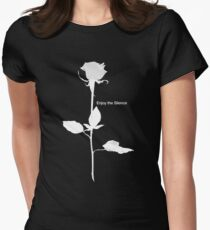 Enjoy the Silence style Rose white Women's Fitted T-Shirt