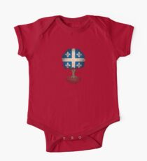 Tree of Life with Quebec Flag One Piece - Short Sleeve