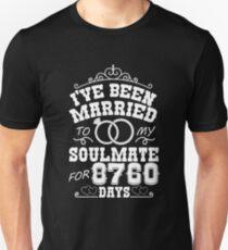 24th Wedding Anniversary Tshirts. Couples Gifts Unisex T-Shirt