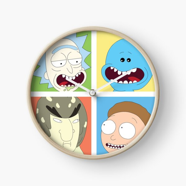 Rick and Morty with co Clock