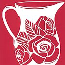 Red rose jug by Tracey Lennon