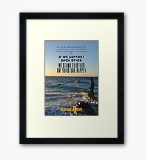 Making a Home - Film Quote Framed Print