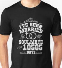 29th Wedding Anniversary Tshirts. Couples Gifts Unisex T-Shirt