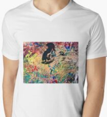 Figurative abstraction Men's V-Neck T-Shirt
