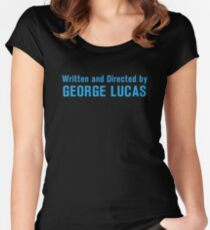 Written and Directed by George Lucas Women's Fitted Scoop T-Shirt