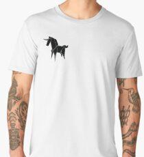 Origami Unicorn Black Men's Premium T-Shirt