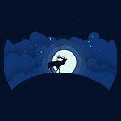 Night Sky with Elk by Andreea Butiu