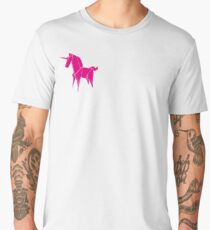 Origami Unicorn Pink Men's Premium T-Shirt