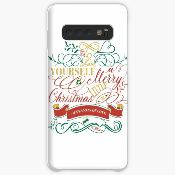 Have Yourself A Merry Little Christmas Love Typography Samsung Galaxy Snap Case