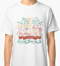 Have Yourself A Merry Little Christmas Love Typography Classic T-Shirt