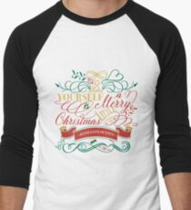 Have Yourself A Merry Little Christmas Love Typography Men's Baseball ¾ T-Shirt