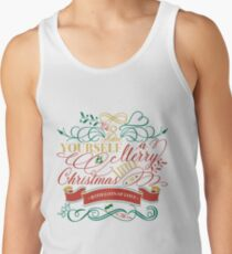 Have Yourself A Merry Little Christmas Love Typography Tank Top