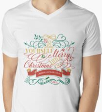 Have Yourself A Merry Little Christmas Love Typography Men's V-Neck T-Shirt