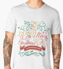 Have Yourself A Merry Little Christmas Love Typography Men's Premium T-Shirt