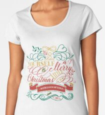 Have Yourself A Merry Little Christmas Love Typography Premium Scoop T-Shirt