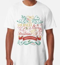 Have Yourself A Merry Little Christmas Love Typography Long T-Shirt