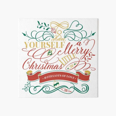 Have Yourself A Merry Little Christmas Love Typography Art Board Print