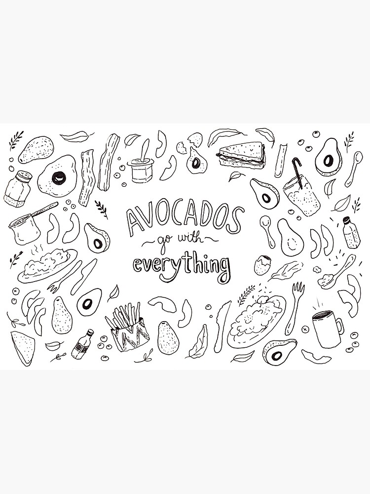 Avocados go with everything - Illustrated Pattern  by mirunasfia