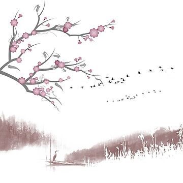 Landscape chinese zen by acrobart