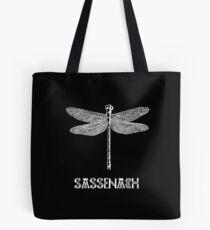 dragonfly sassenach white Tote Bag