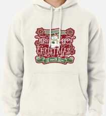 Snowman Very Happy Christmas With Much Love Typography Pullover Hoodie