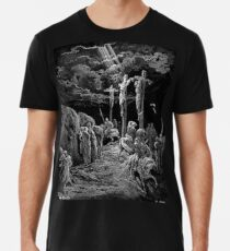Gustave Dore, The Crucifixion, Bible, Biblical, Christ, Crucify Men's Premium T-Shirt