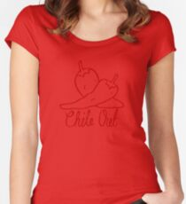 Chile Out - Funny Mexican Food Chile Pepper Women's Fitted Scoop T-Shirt