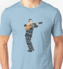 Typographic and Minimalist Johnny Cash Illustration T-Shirt