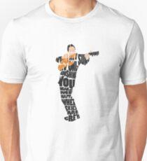 Typographic and Minimalist Johnny Cash Illustration T-Shirt