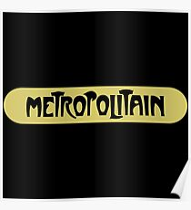 Metropolitain, Subway Sign, Paris, France Poster