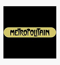 Metropolitain, Subway Sign, Paris, France Photographic Print
