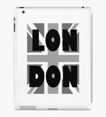 UNION JACK, LONDON, ENGLAND, GREY, BRITISH, GB, UK, iPad Case/Skin