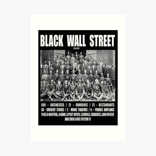 Black Wall Street Art Print
