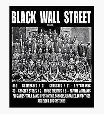 Black Wall Street Photographic Print