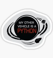 MY OTHER VEHICLE IS A PYTHON Sticker