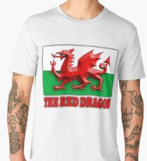 WELSH FLAG, WALES, WELSH, RED DRAGON, WALES,  Men's Premium T-Shirt