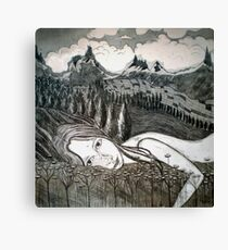 Amy's Travels - Aquatint Etching Canvas Print