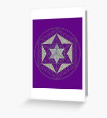 Flower of Life, Vector Equilibrium, Merkaba   Greeting Card