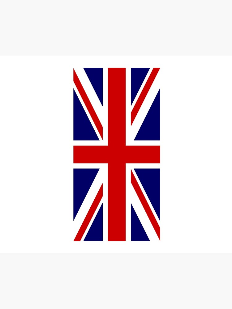 British, Union Jack, PORTRAIT, Flag, 1;2, UK, GB, United Kingdom, Pure & simple  von TOMSREDBUBBLE