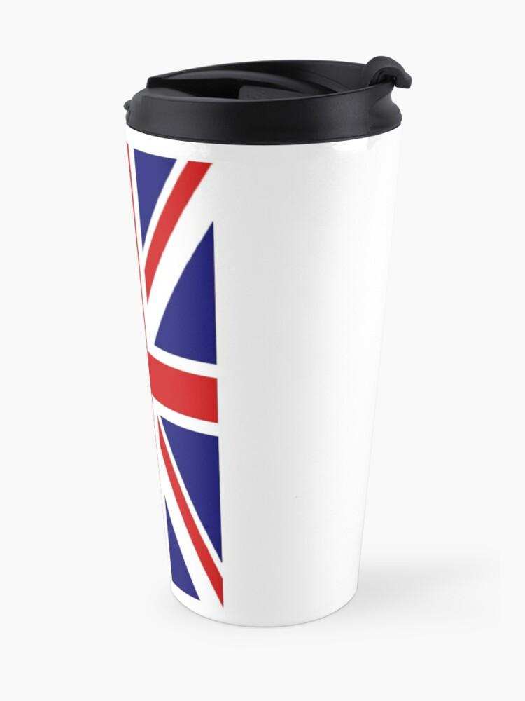 Alternative Ansicht von British, Union Jack, PORTRAIT, Flag, 1;2, UK, GB, United Kingdom, Pure & simple  Thermobecher