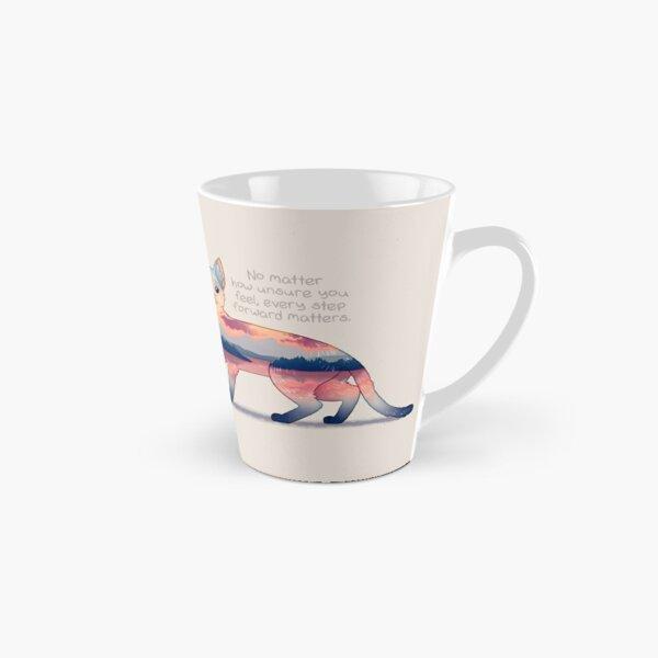 """Every Step Forward Matters"" Ocean View Sunset Cat Tall Mug"