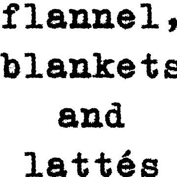 Flannel, blankets & lattés by dotandink