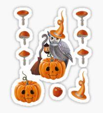 Owl Halloween Sticker