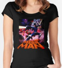 Mega Man 1 Nes classic Women's Fitted Scoop T-Shirt