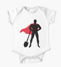 Superhero with shovel One Piece - Short Sleeve