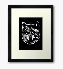 Nachtwolf Gerahmtes Wandbild